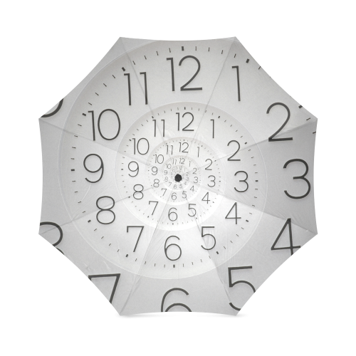 Time Clock Droste Spiral Foldable Umbrella (Model U01)