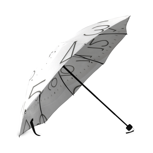Time Clock Droste Spiral Foldable Umbrella