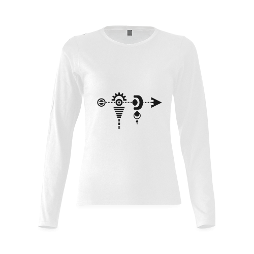 Alien Arrow Sunny Women's T-shirt (long-sleeve)