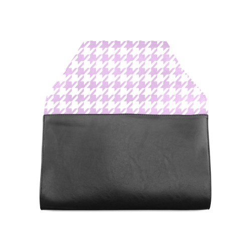 lilac and white houndstooth classic pattern Clutch Bag (Model 1630)