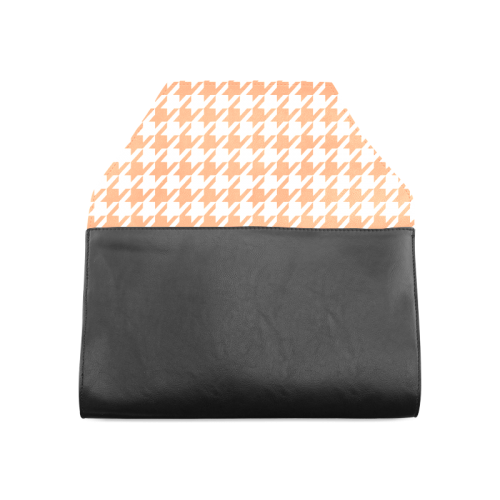 orange and white houndstooth classic pattern Clutch Bag (Model 1630)
