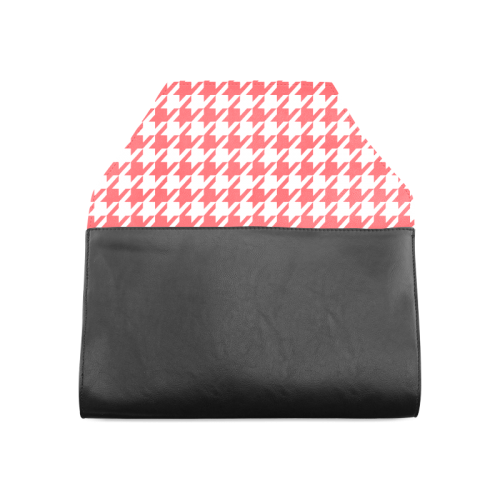 red and white houndstooth classic pattern Clutch Bag (Model 1630)