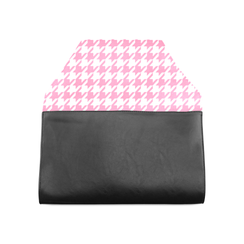 pink and white houndstooth classic pattern Clutch Bag (Model 1630)