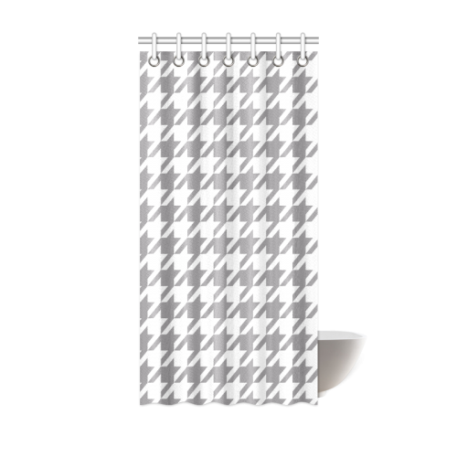 """grey and white houndstooth classic pattern Shower Curtain 36""""x72"""""""