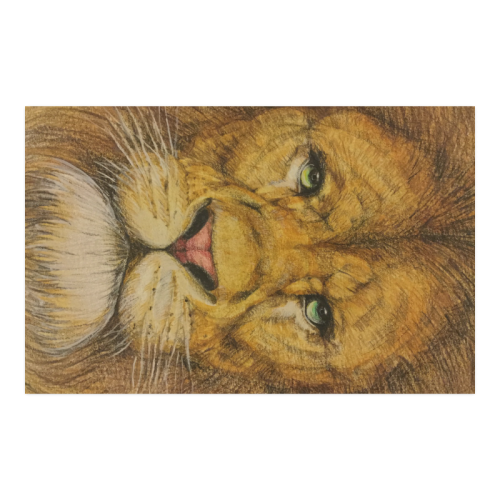 Regal Lion Drawing Poster 23*36