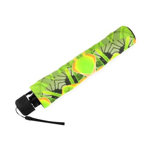 Golden Green Foliage Ferns Abstract Summer Days Foldable Umbrella (Model U01)
