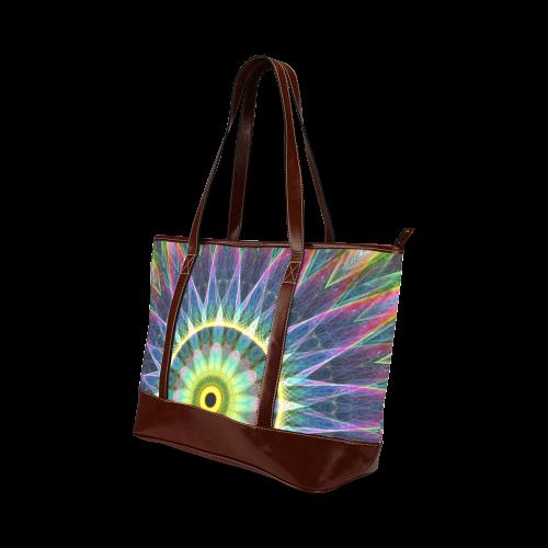 flower eye mandala abstract art Tote Handbag (Model 1642)