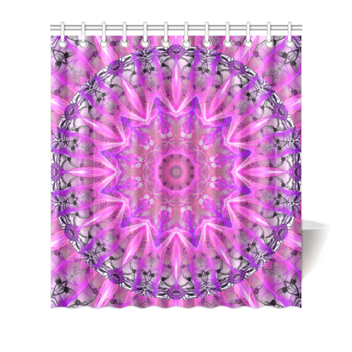 "Lavender Lace Abstract Pink Light Love Lattice Shower Curtain 66""x72"""