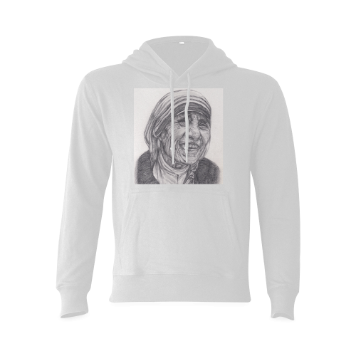 Mother Theresa Drawing Gildan Hoodie Sweatshirt (Model H03)
