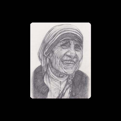 Mother Theresa Drawing Rectangle Mousepad