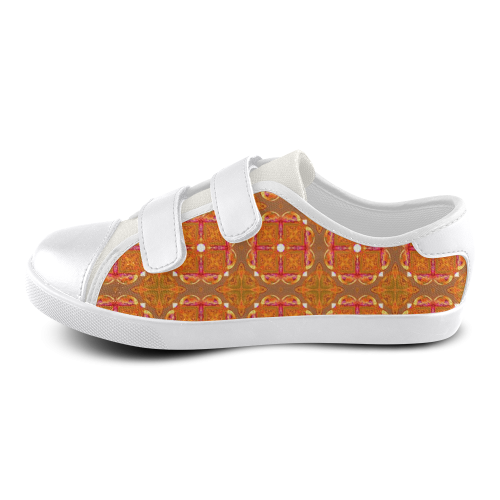 Gingerbread Houses, Cookies, Apple Cider Abstract Velcro Canvas Kid's Shoes (Model 008)