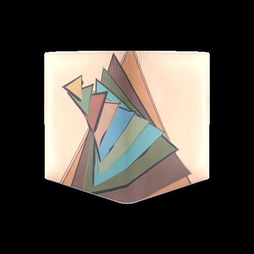 Trianglupagus Men's Leather Wallet (Model 1612)