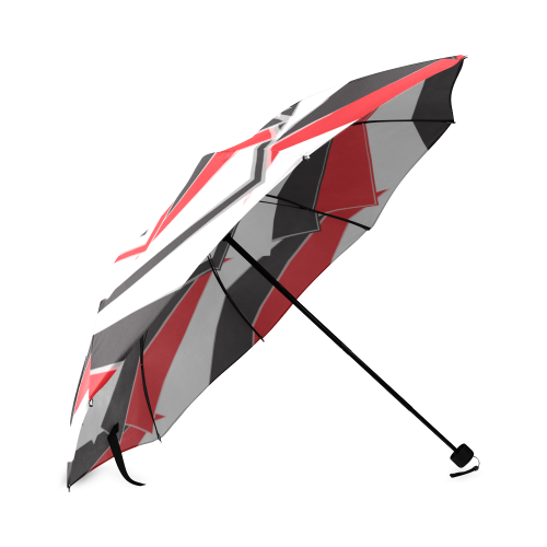 A red point of view Foldable Umbrella