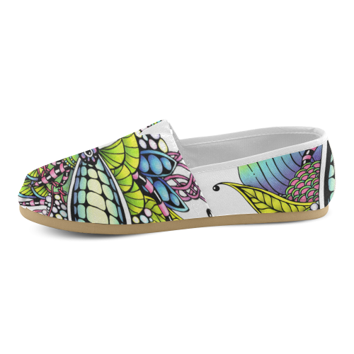 Bright fantasy flower in bright colors Women's Casual Shoes (Model 004)