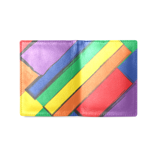Rainbow Men's Leather Wallet (Model 1612)