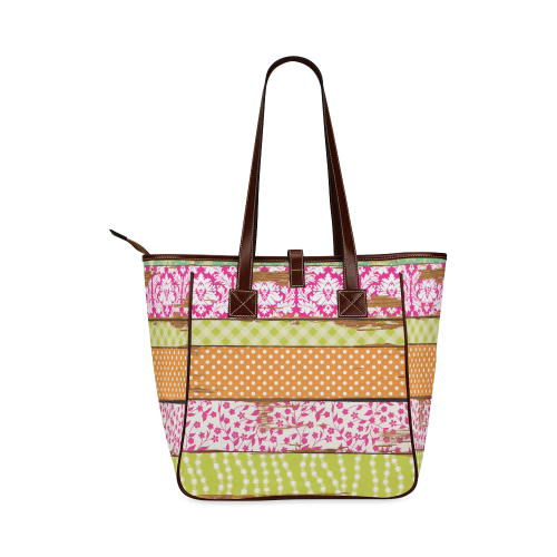 wood chipped painted patterns Classic Tote Bag (Model 1644)