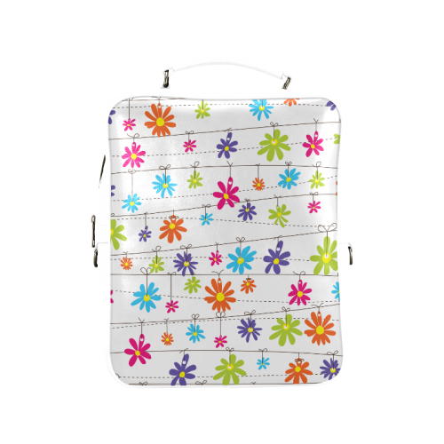 colorful flowers hanging on lines Square Backpack (Model 1618)