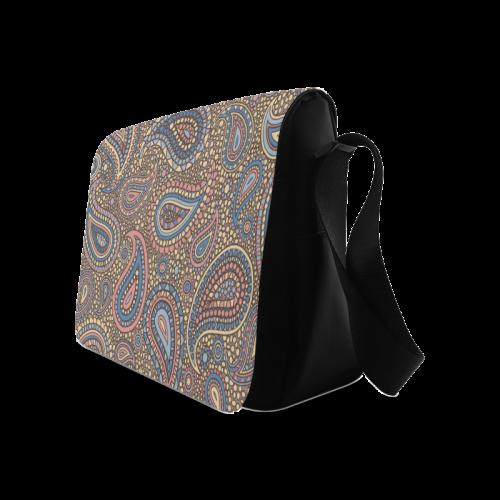 yellow blue pink paisley mosaic pattern Messenger Bag (Model 1628)