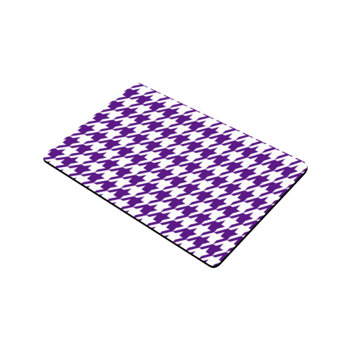 "royal purple and white houndstooth classic pattern Doormat 30""x18"""