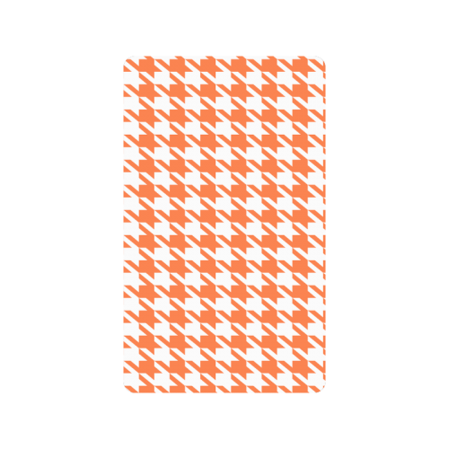 """orange and white houndstooth classic pattern Doormat 30""""x18"""""""