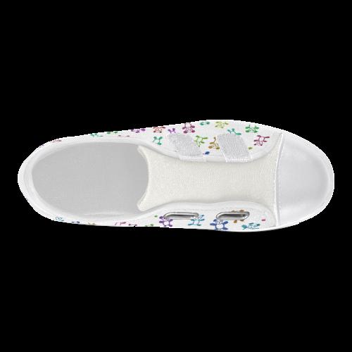 doodle bears Velcro Canvas Kid's Shoes (Model 008)