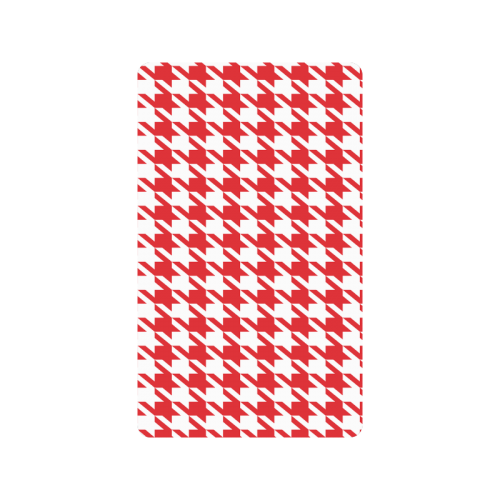 "red and white houndstooth classic pattern Doormat 30""x18"""