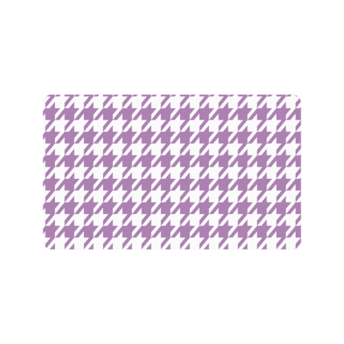 """lilac and white houndstooth classic pattern Doormat 30""""x18"""""""