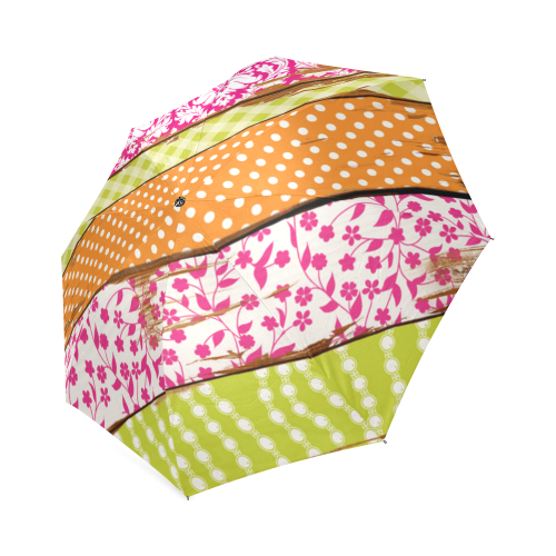 wood chipped painted patterns Foldable Umbrella
