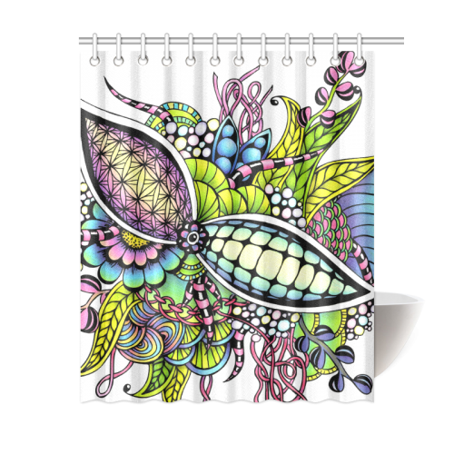 """Bright fantasy flower in bright colors Shower Curtain 60""""x72"""""""