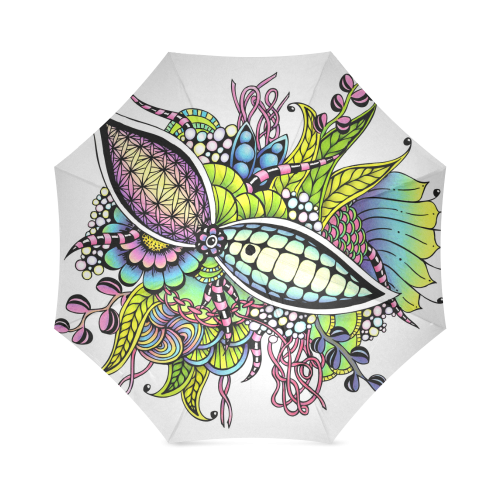 Bright fantasy flower in bright colors Foldable Umbrella
