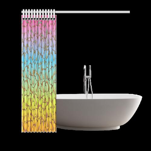 "rainbow hibiscus flowers Shower Curtain 66""x72"""