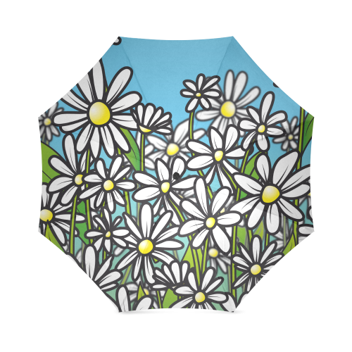 white daisy field flowers Foldable Umbrella