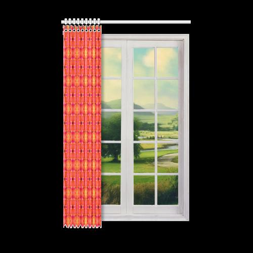 "Peach Apricot Cinnamon Nutmeg Modern Abstract Window Curtain 52"" x 84""(One Piece)"