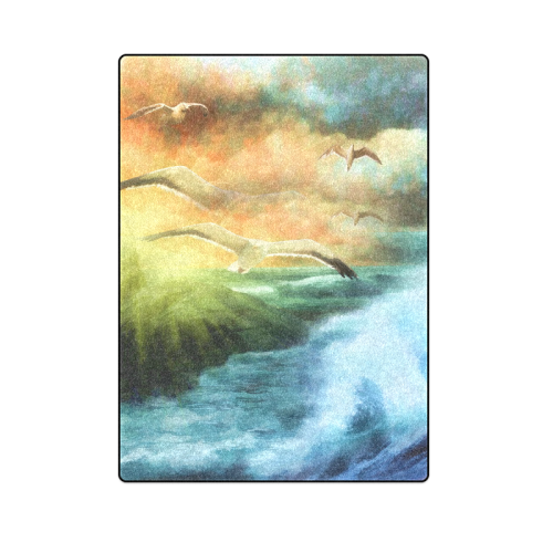 "Seagull Fantasy Flight Blanket 58""x80"""