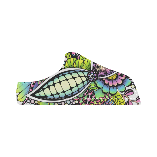 Bright fantasy flower in bright colors Men's Chukka Canvas Shoes (Model 003)