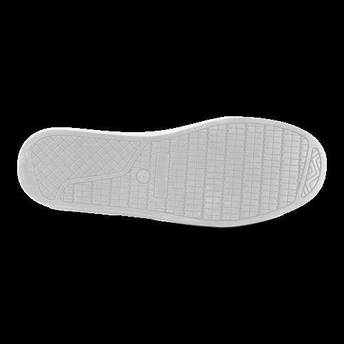 green geometric pattern Men's High Top Canvas Shoes (Model 002)
