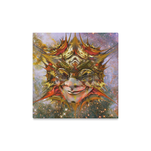 "Star Clown Canvas Print 16""x16"""