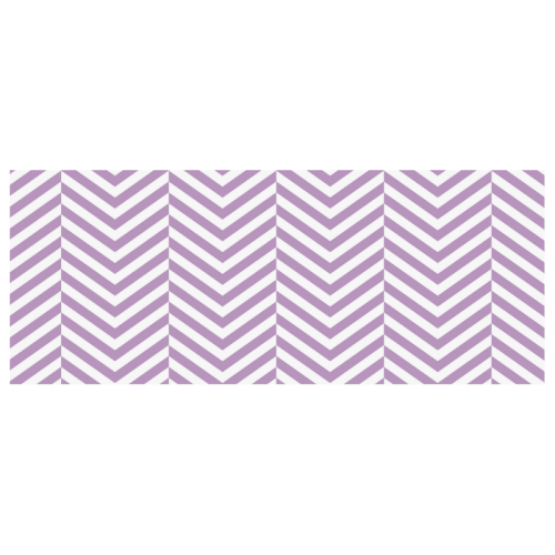 lilac purple and white classic chevron pattern Custom Morphing Mug