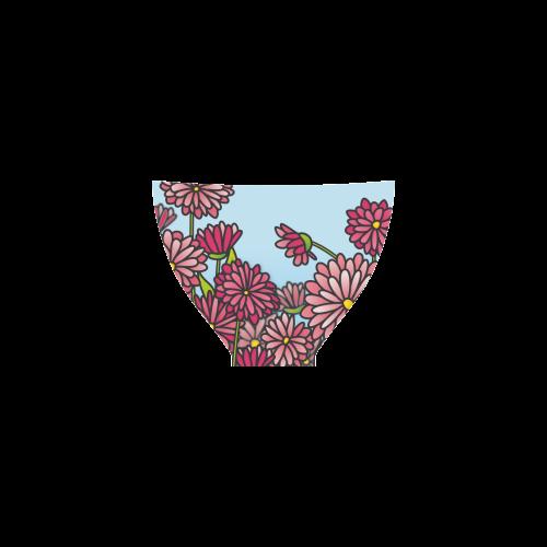 chrysantenum flower field pink floral Custom Bikini Swimsuit