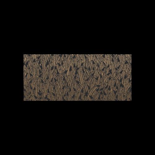 brown ombre feathers pattern black Cazorla Sports Bottle(13.5OZ)