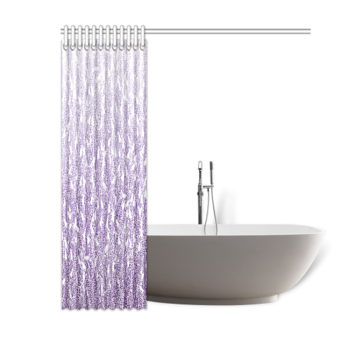"""purple ombre feathers pattern white Shower Curtain 60""""x72"""""""