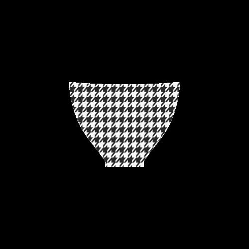 black and white houndstooth classic pattern Custom Bikini Swimsuit