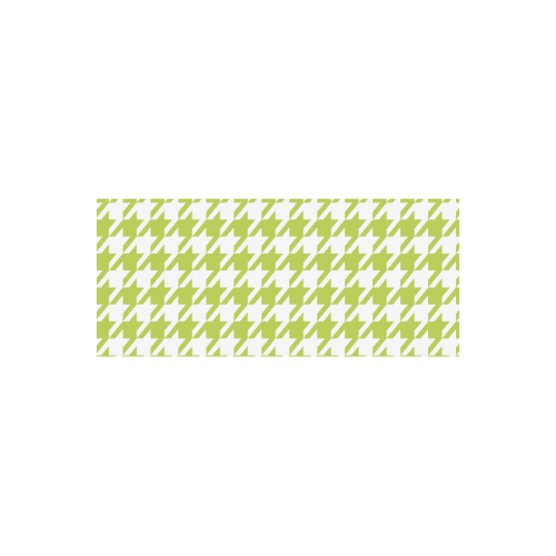 spring green and white houndstooth classic pattern Manchester Sports Bottle(22OZ)