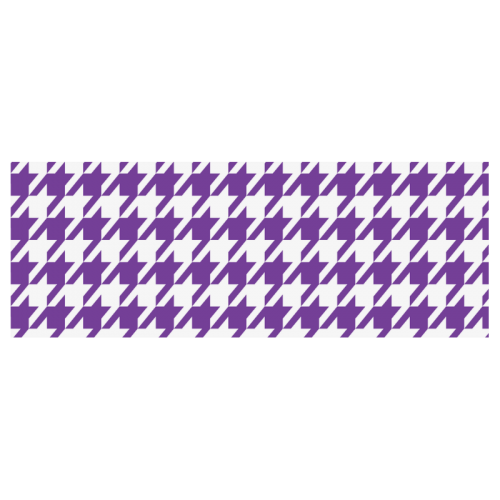 royal purple and white houndstooth classic pattern Travel Mug(Silver)