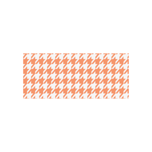 orange and white houndstooth classic pattern Cazorla Sports Bottle(13.5OZ)