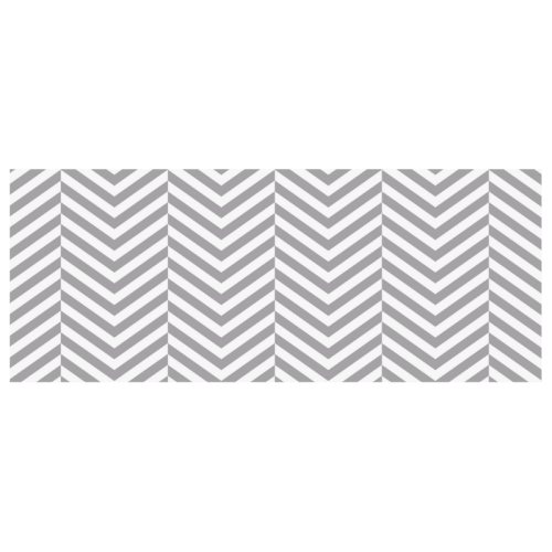 grey and white classic chevron pattern Custom Morphing Mug