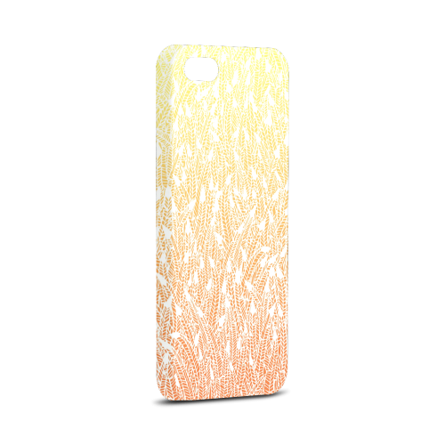 yellow orange ombre feather pattern white Hard Case for iPhone 5/5s