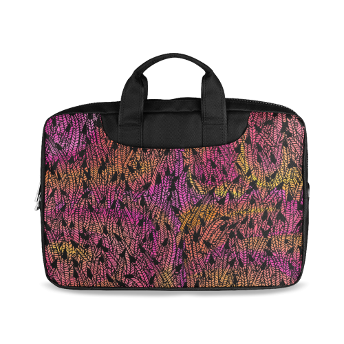 "pink yellow black feather pattern Macbook Air 13""(Twin sides)"