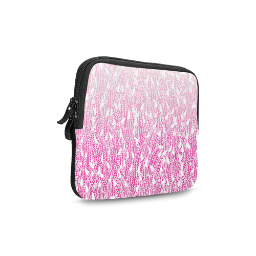 pink ombre feathers pattern white iPad mini