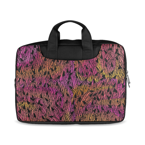 "pink yellow black feather pattern Macbook Air 13""(Two sides)"